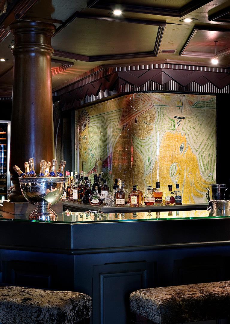 Bar à champagne centre de Megève