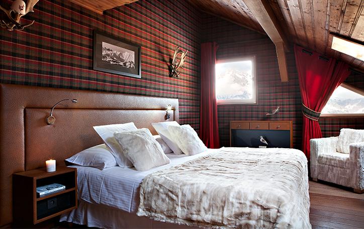 Chambres cosy hôtel Megève Lodge Park