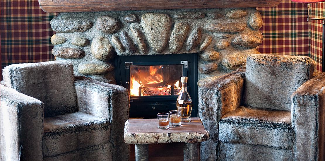 Chambre Lodge Cheminée - Lodge Park Megève