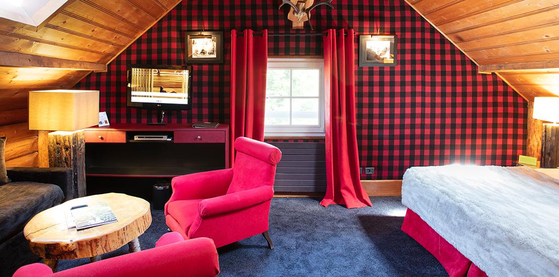 Chambre Lodge Famille - Lodge Park Megève