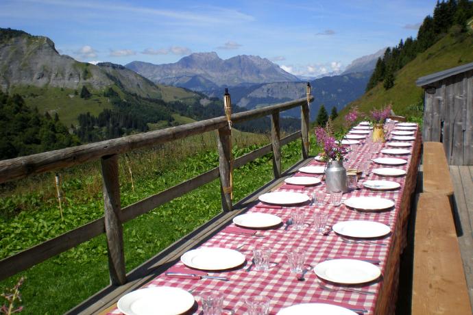 Table d'hôtes à Megève
