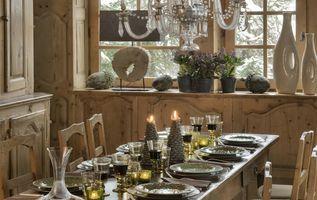salle à manger chalet des Fermes de Marie