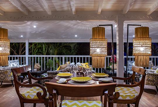 Formule demi-pension - dîner inclus - Villa Marie Saint-Barth