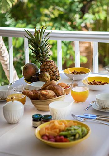 Petit-déjeuner - Villa Marie Saint-Barth