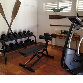 Salle fitness - Villa Marie Saint-Barth