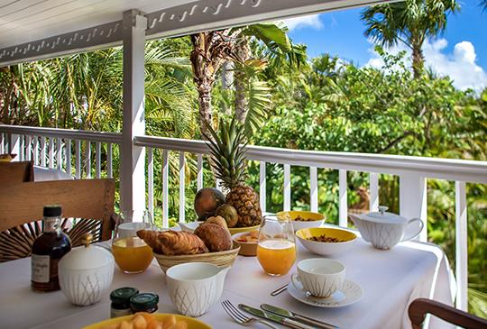 Formule petit-déjeuner inclus - Villa Marie Saint-Barth
