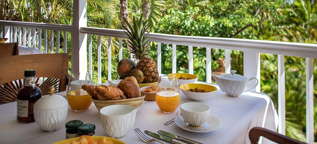 Petit déjeuner gourmand - Villa Marie Saint-Barth