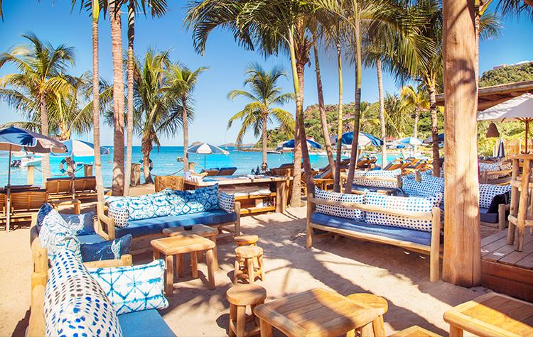 Restaurant plage Saint Barth