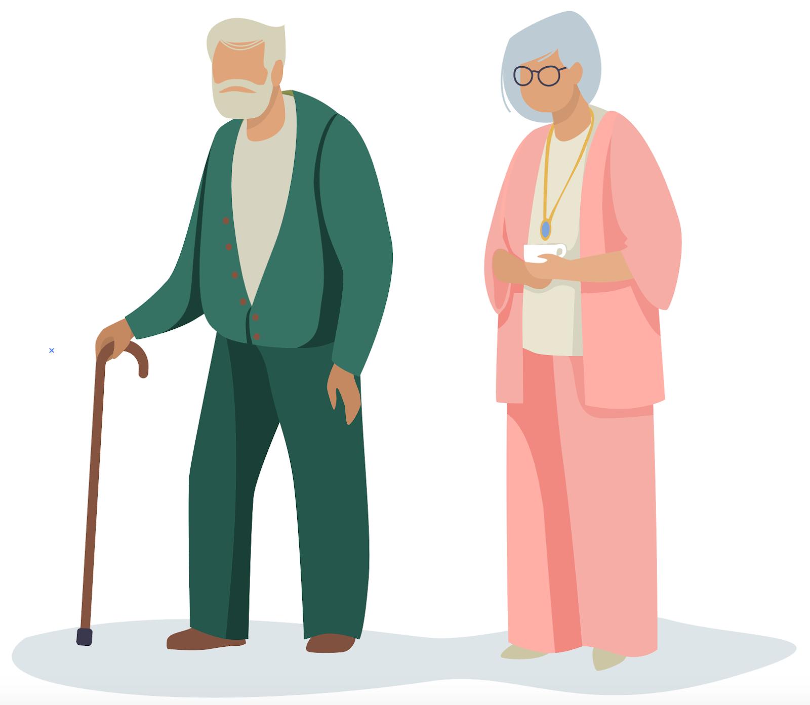 Illustration de seniors
