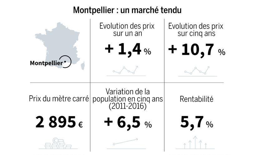 Infographie sur l'immobilier à Montpellier