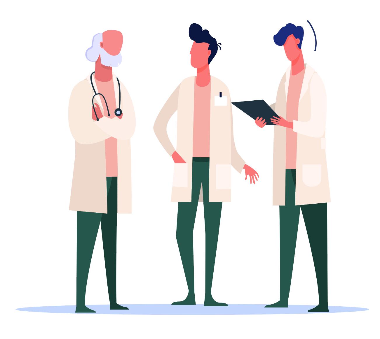 Illustration de médecins