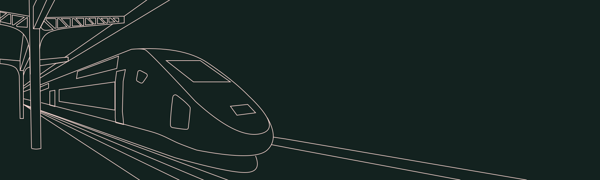 Train dans une gare TGV