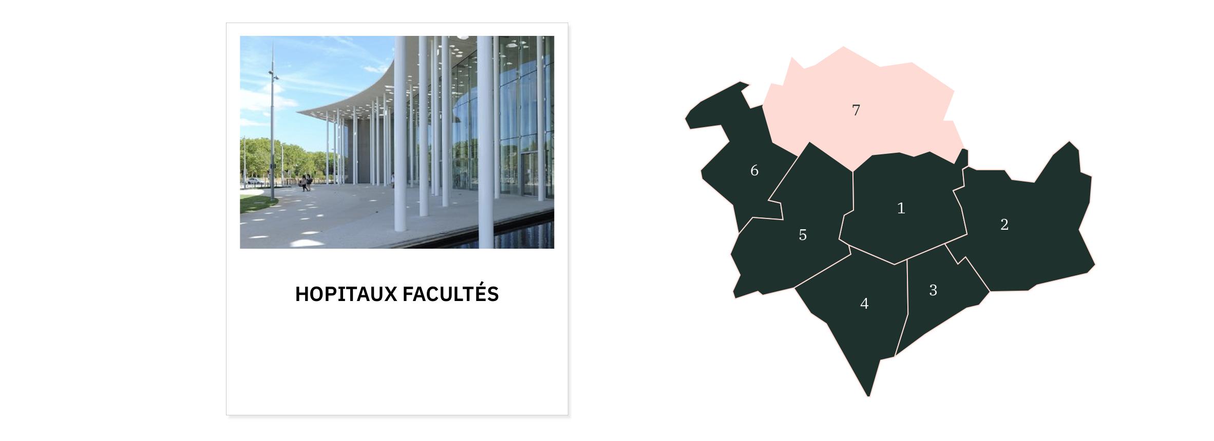 Hôpitaux Facultés ⎮ Carte des quartiers de Montpellier