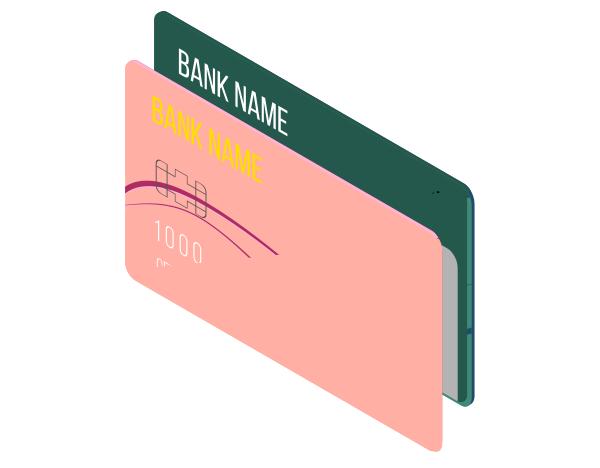 Illustration de cartes bancaires