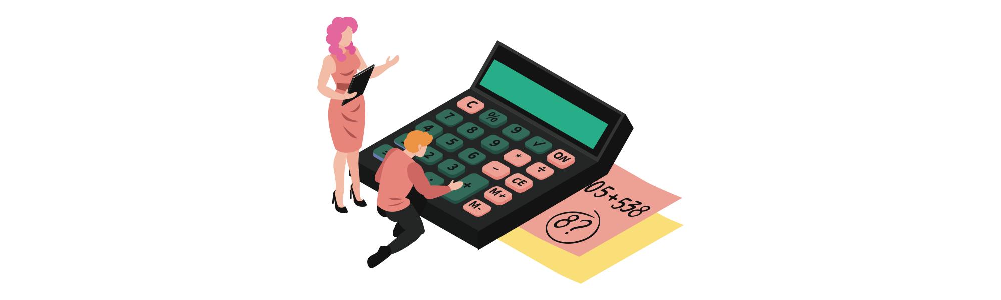 Deux personnes en train de calculer leurs économies grâce au différé de remboursement