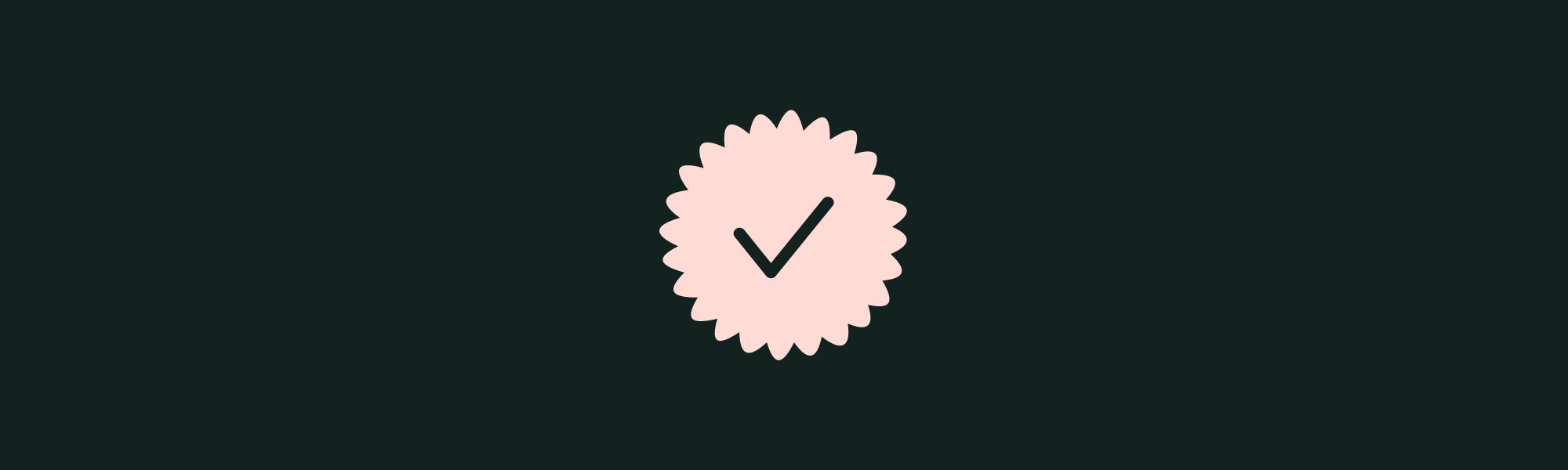 Badge compte certifié illustrant l'acte authentique de vente immobilière