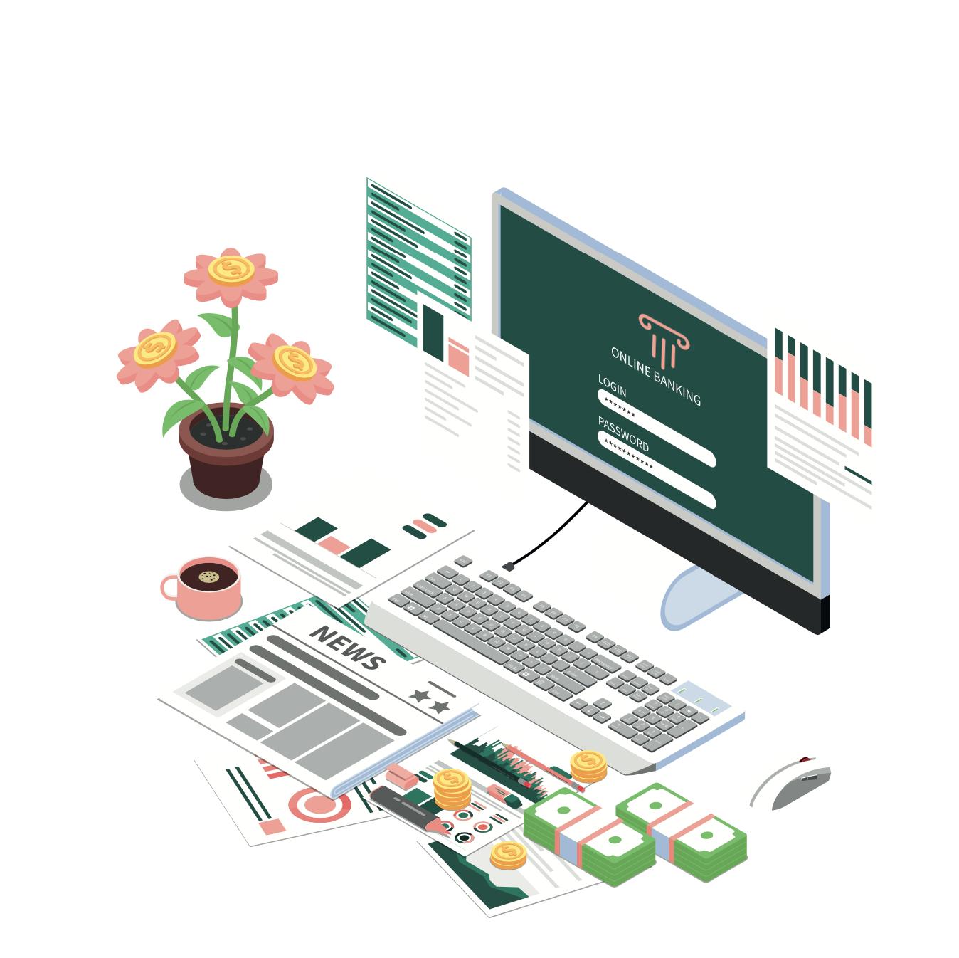 Illustration de l'Online banking