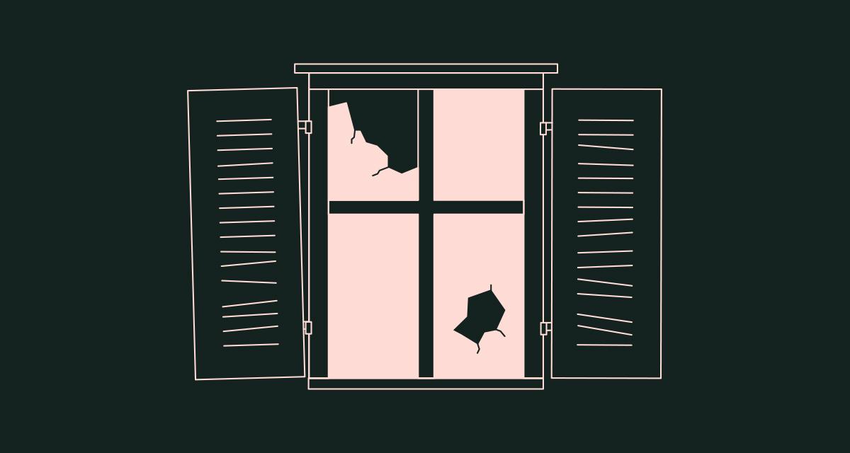 fenêtre cassée à rénover