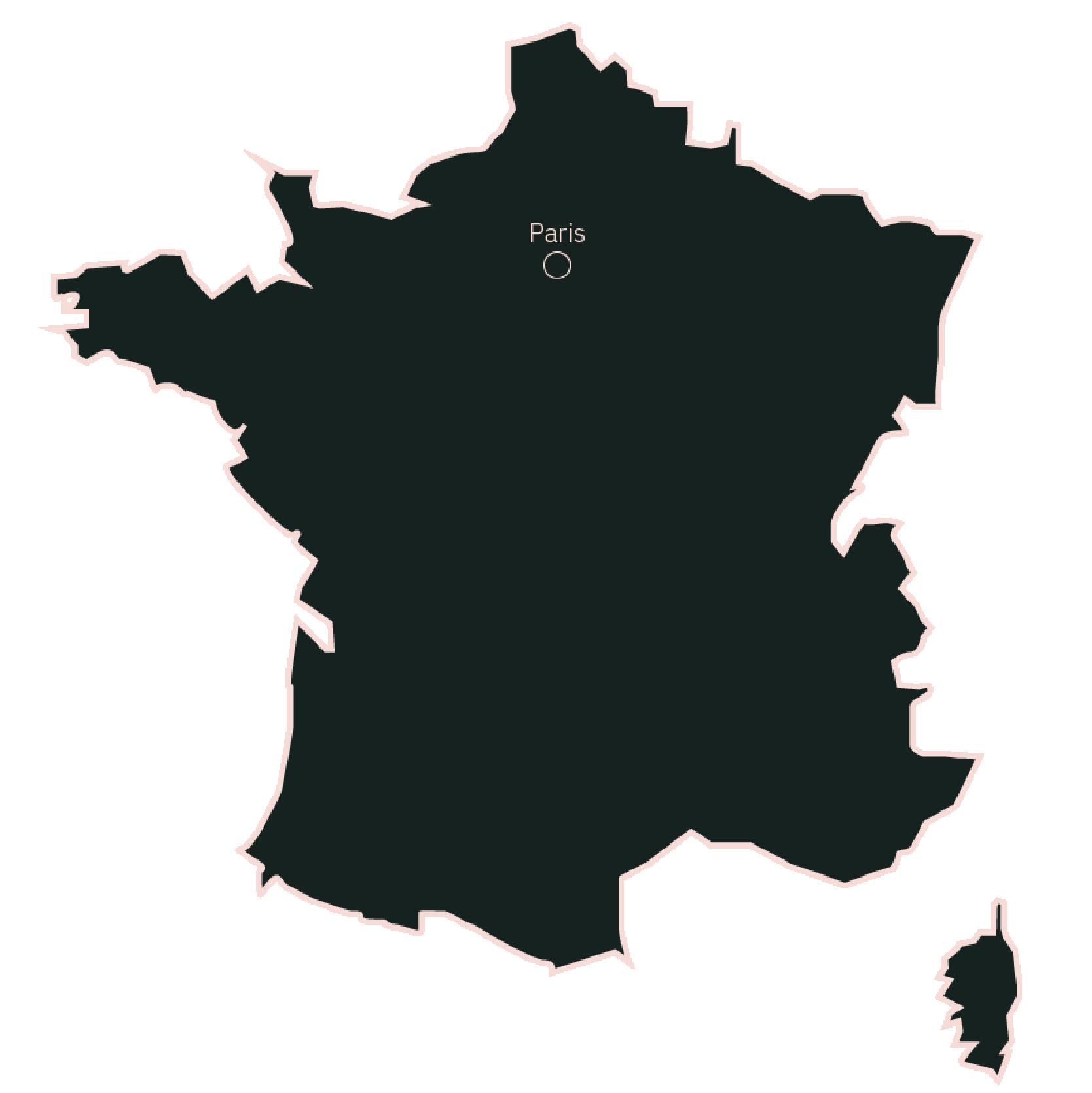 Carte France Paris