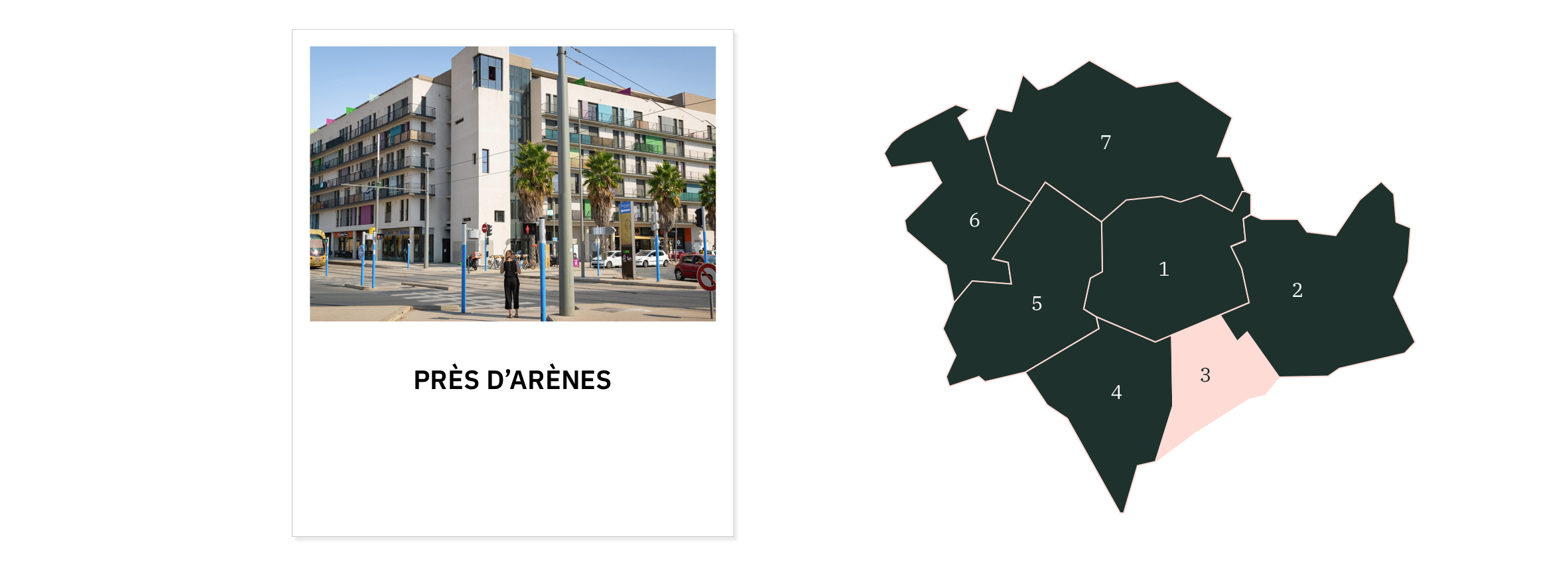 Près d'Arènes ⎮ Carte des quartiers de Montpellier