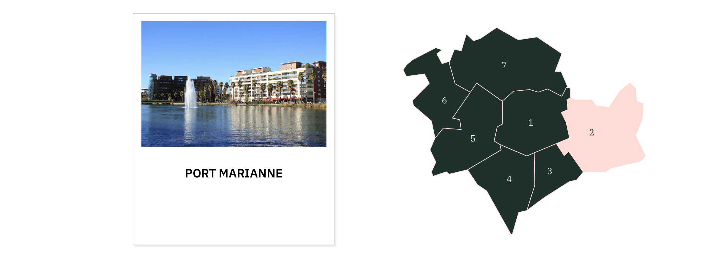 Port Marianne ⎮ Carte des quartiers de Montpellier
