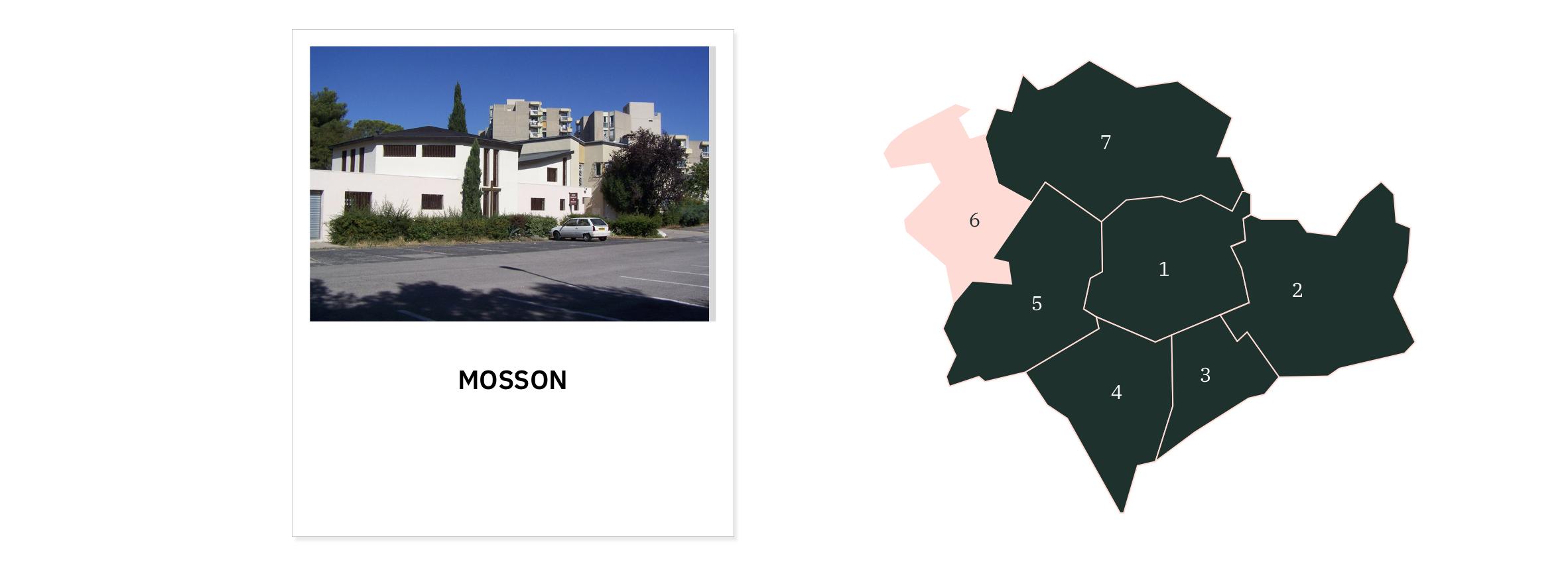 La Mosson ⎮ Carte des quartiers de Montpellier