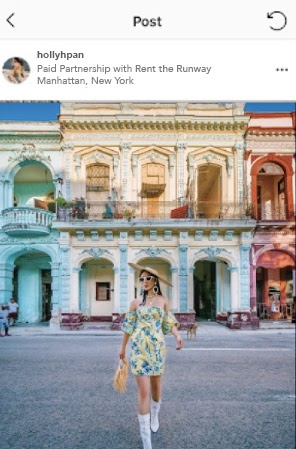 Example of the Paid Partnership tag on an influencer ad