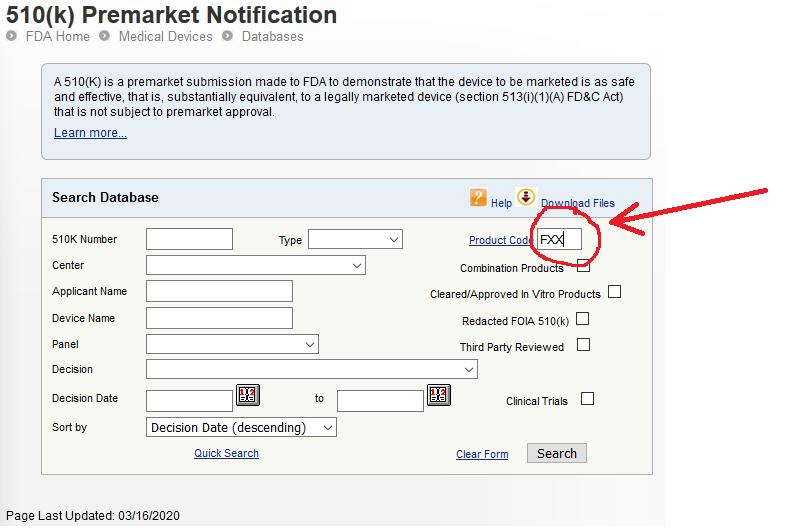 screenshot of FDA site regarding PPE masks coronavirus covid-19