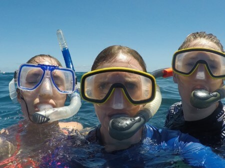 travel nurse duo swimming