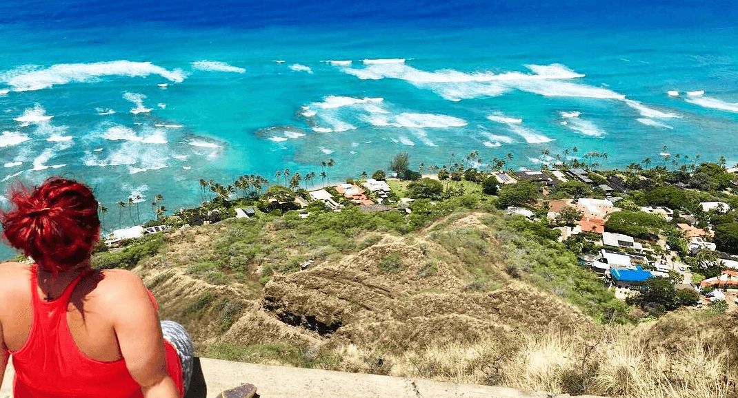 jeri ford travel nurse overlooking tropical island