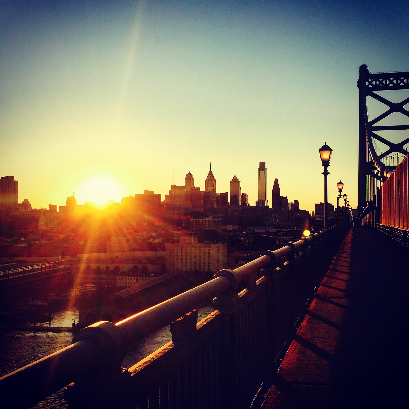 traveling in philly sunrise