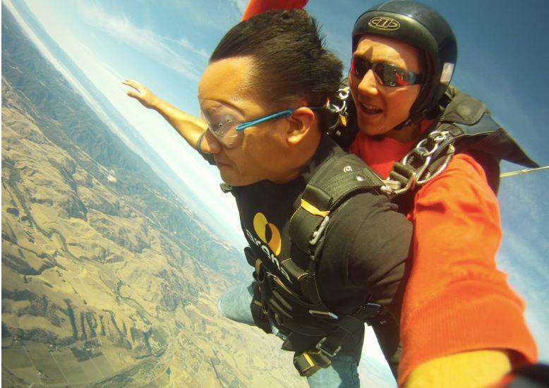 david sasda skydiving
