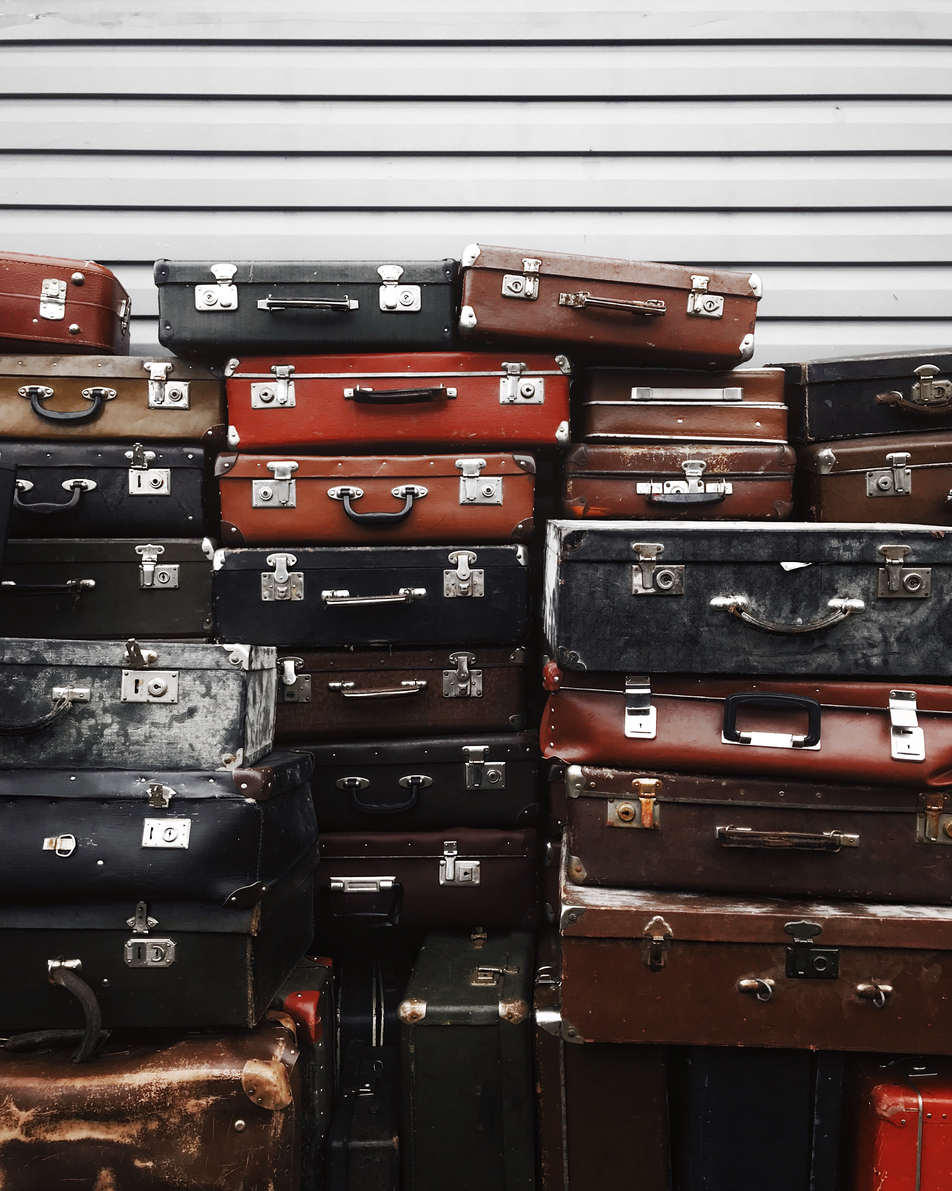 too many suitcases for travel nurse