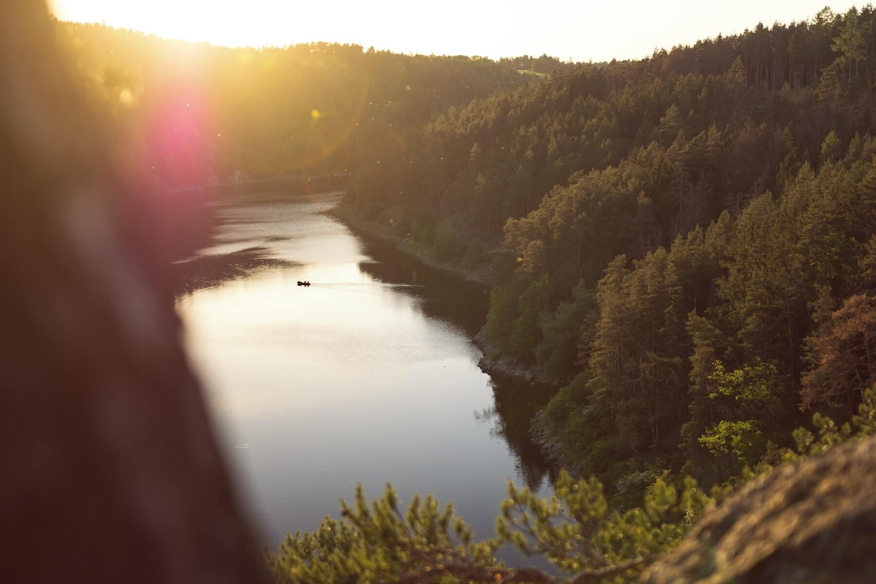 photo forested landscape overlooking a river at sunset nursing and photography