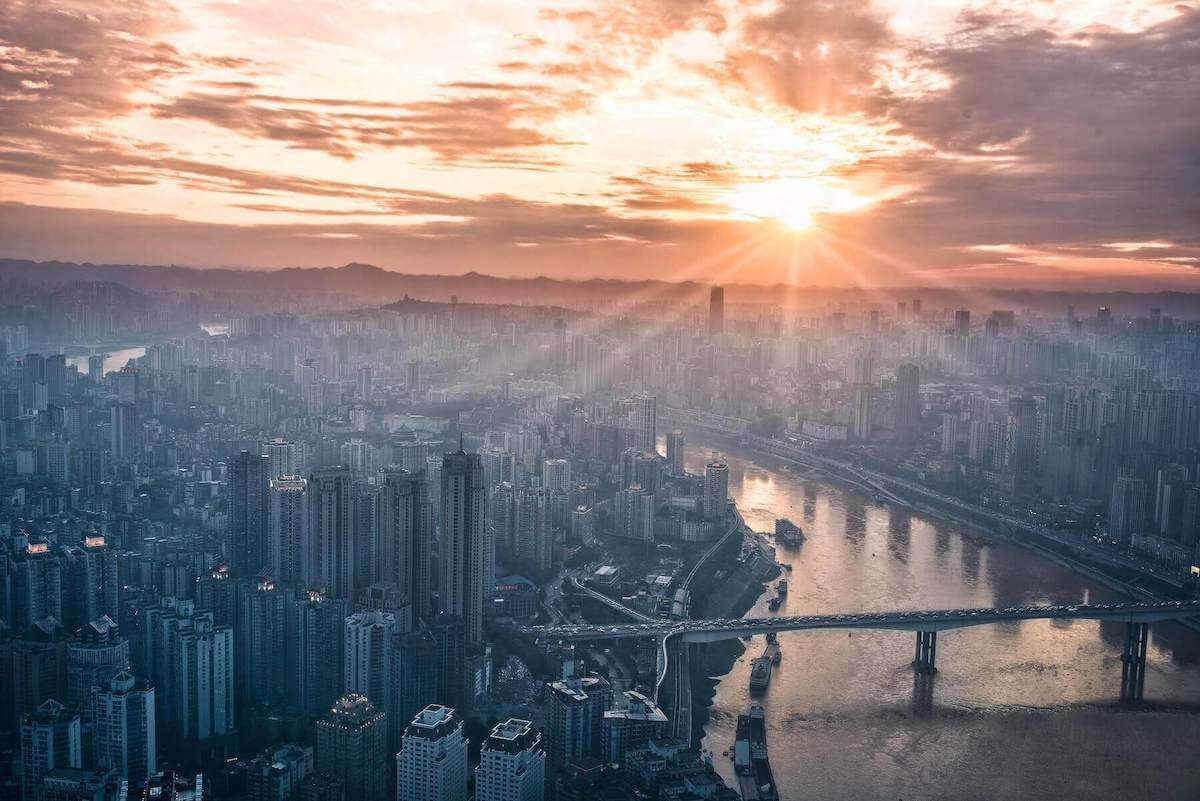 city scape during sunset travel nursing agencies choosing a location