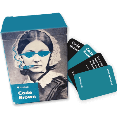 trusted health card game for nurses code brown card came for nurses