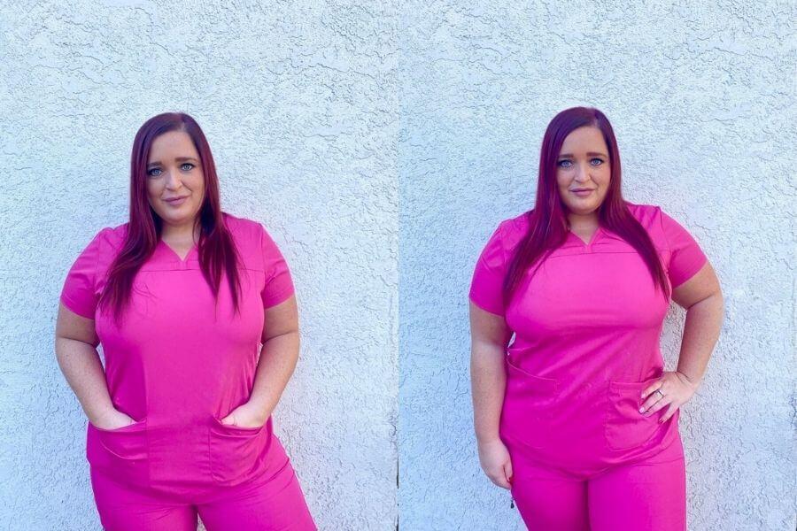 nurse jeri ford wearing borno-uniforms scrubs nursing scrubs review