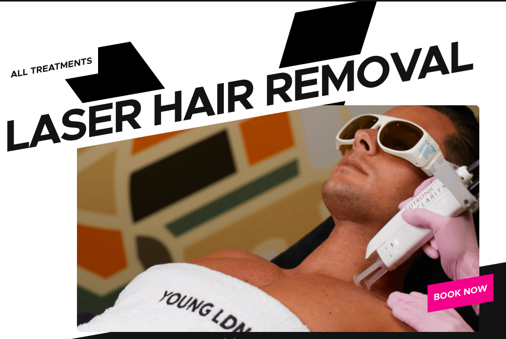 Laser hair removal treatments Young LDN