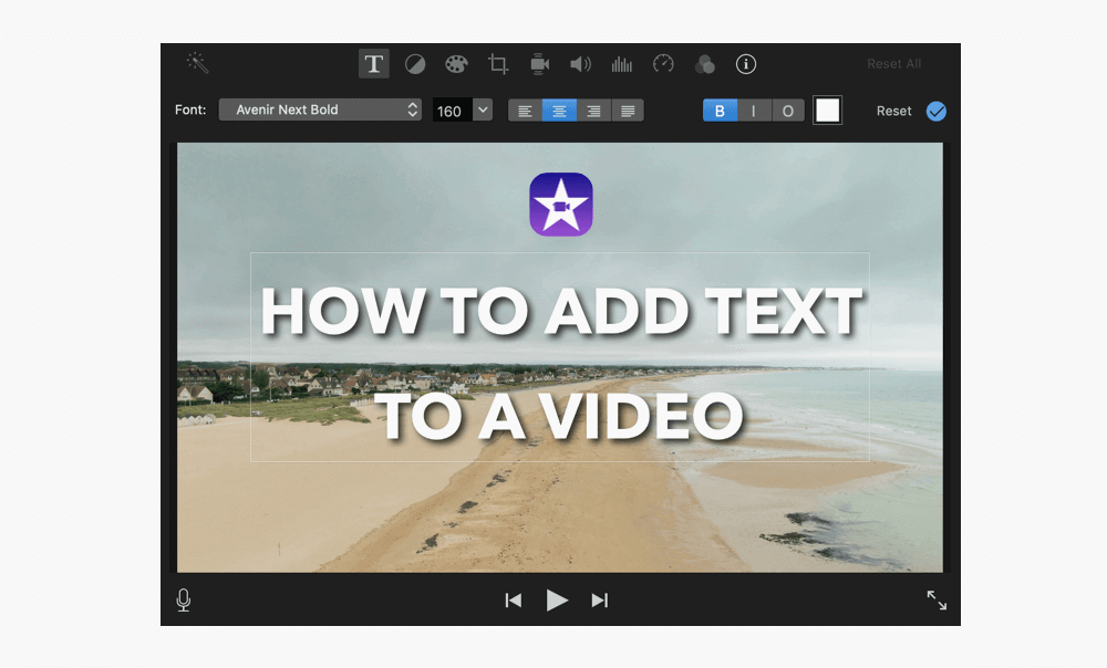 How to add text to a video in iMovie
